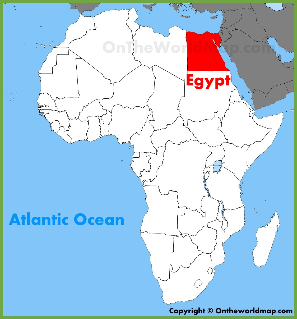 Egypt Location On The Africa Map - Map of egypt picture