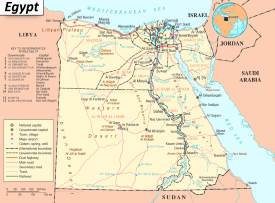 Road map of Egypt
