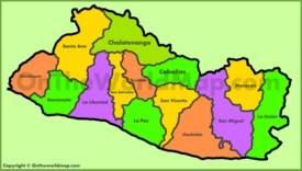 Administrative map of El Salvador