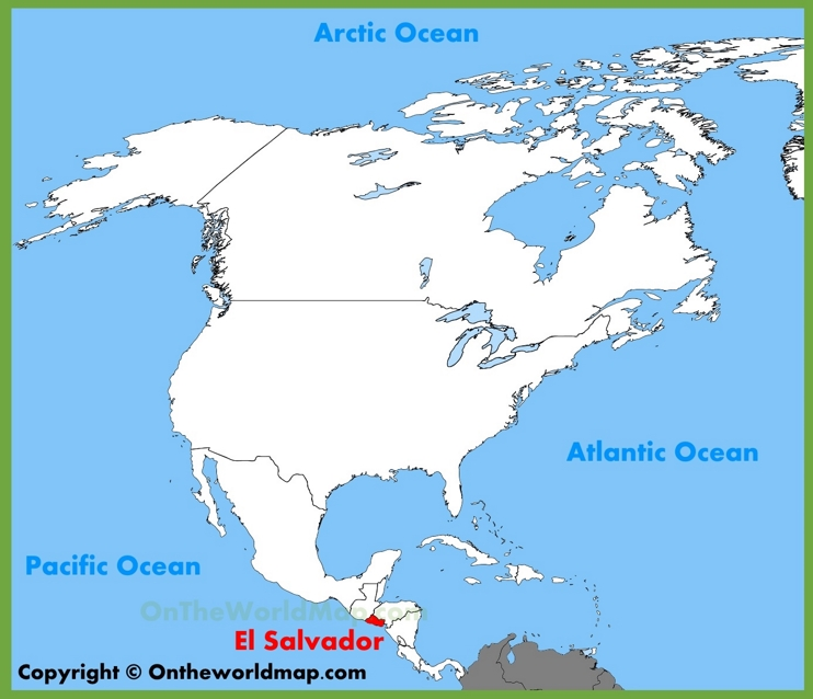 El Salvador location on the North America map