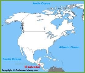 El Salvador location on the North America map