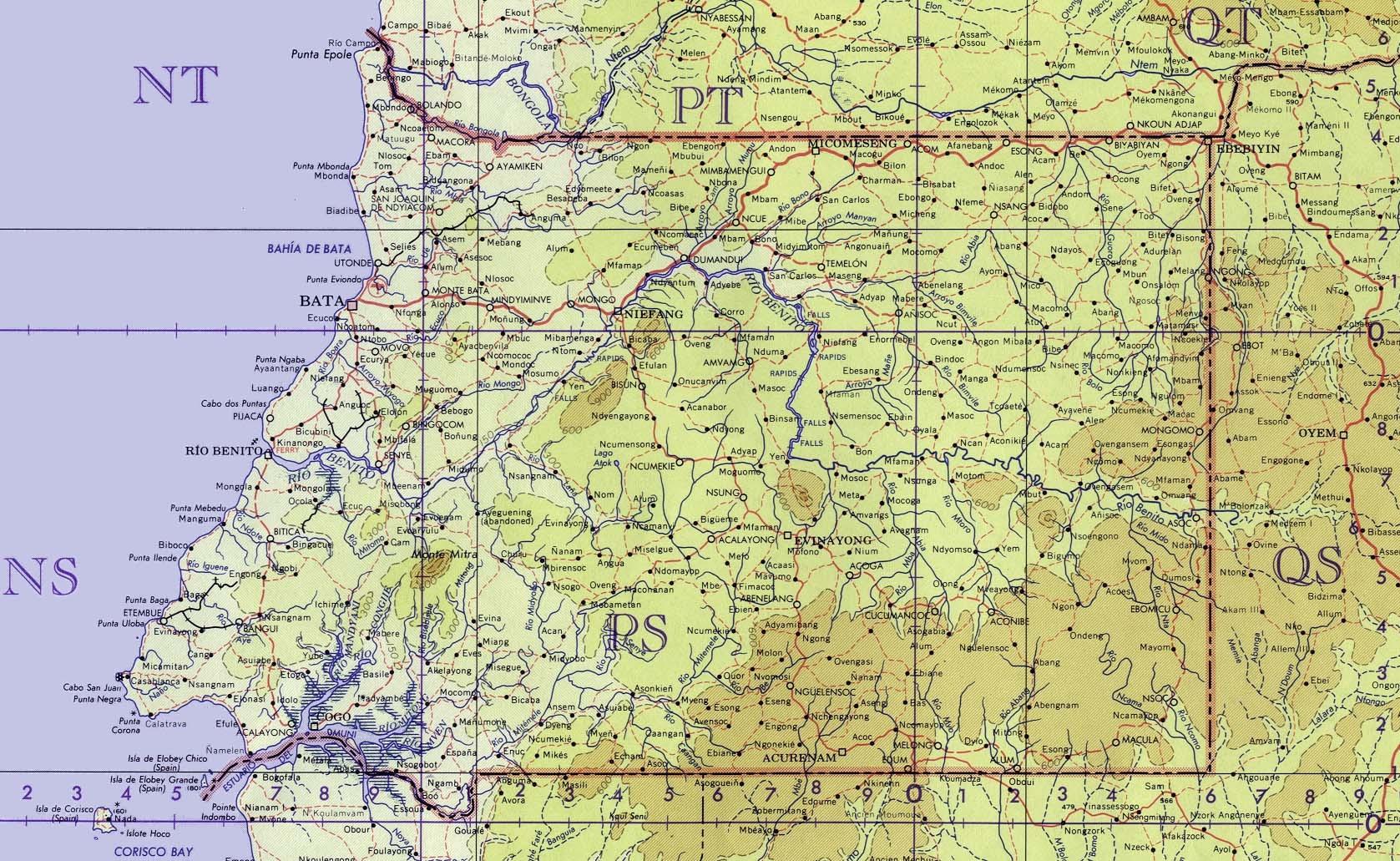 Equatorial Guinea Maps Maps of Equatorial Guinea