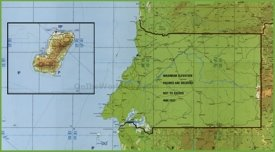 Topographical map of Equatorial Guinea