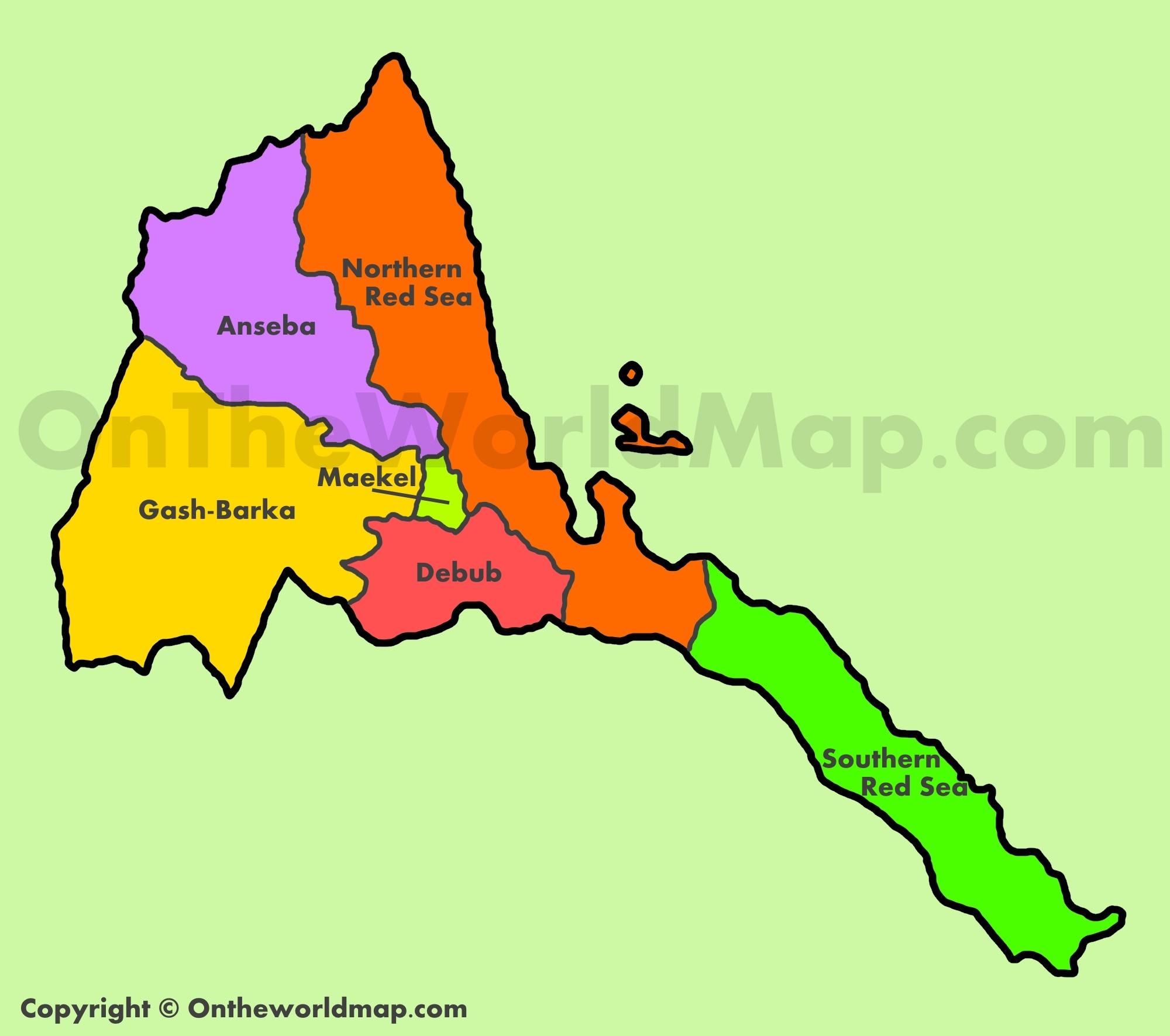 Eritrea Maps Maps of Eritrea