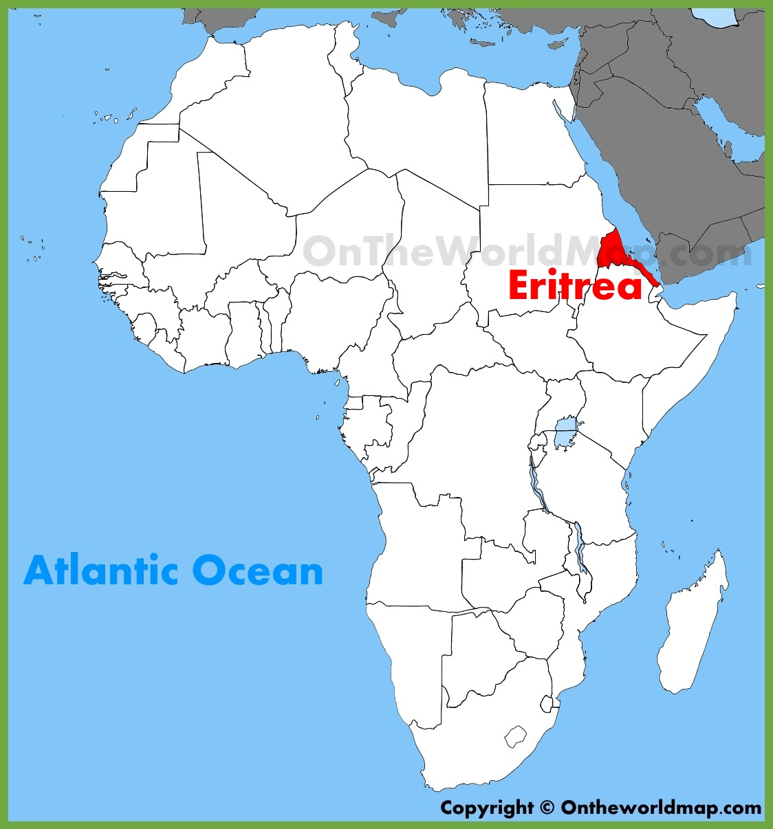 Eritrea location on the Africa map