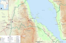 Large detailed map of Eritrea