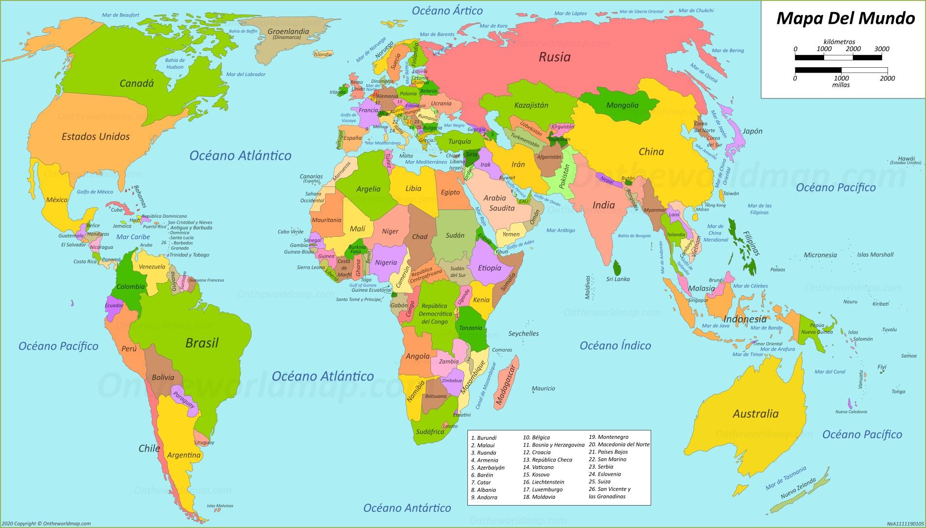 Mapa Del Mundo Mapas De Todos Los Paises Ciudades Y Regiones
