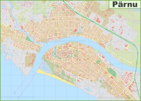 Large detailed map of Pärnu