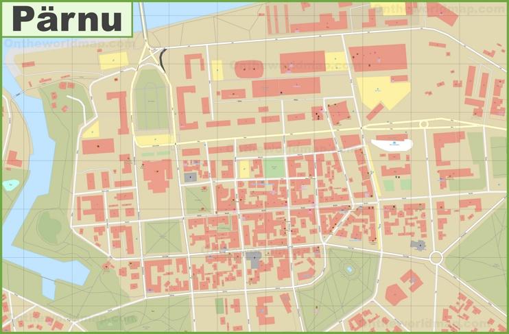 Pärnu city center map
