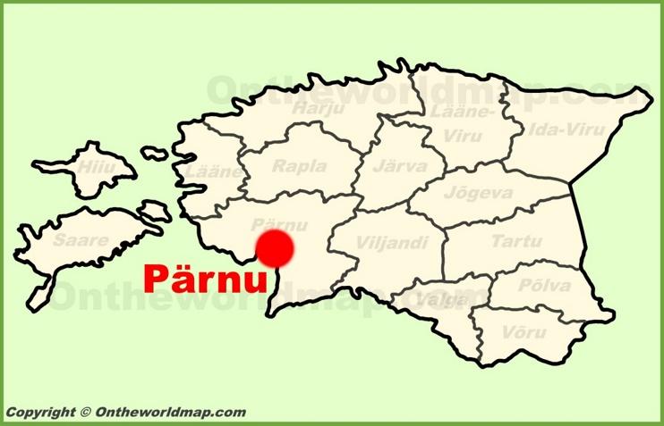 Pärnu location on the Estonia Map