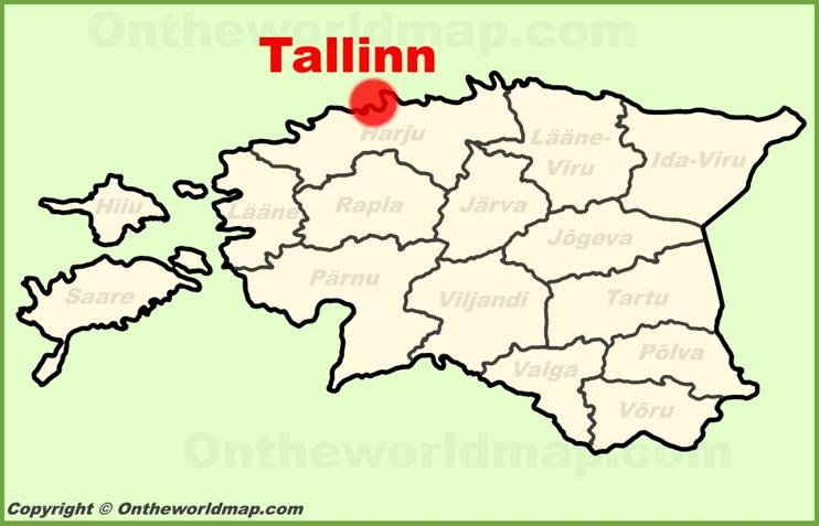 Tallinn location on the Estonia Map