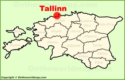 Tallinn Location Map