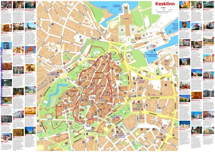 Tallinn sightseeing map