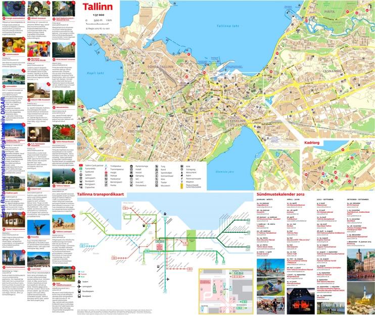 Tallinn tourist map