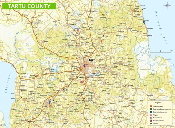 Tartu area road map