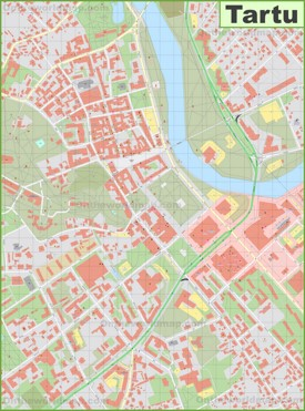 Tartu city center map