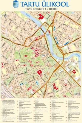 Tartu tourist map