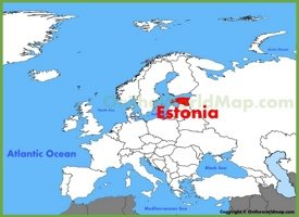 Estonia location on the Europe map