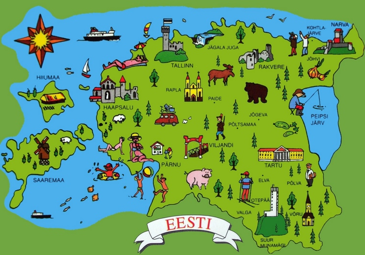 Estonia tourist map