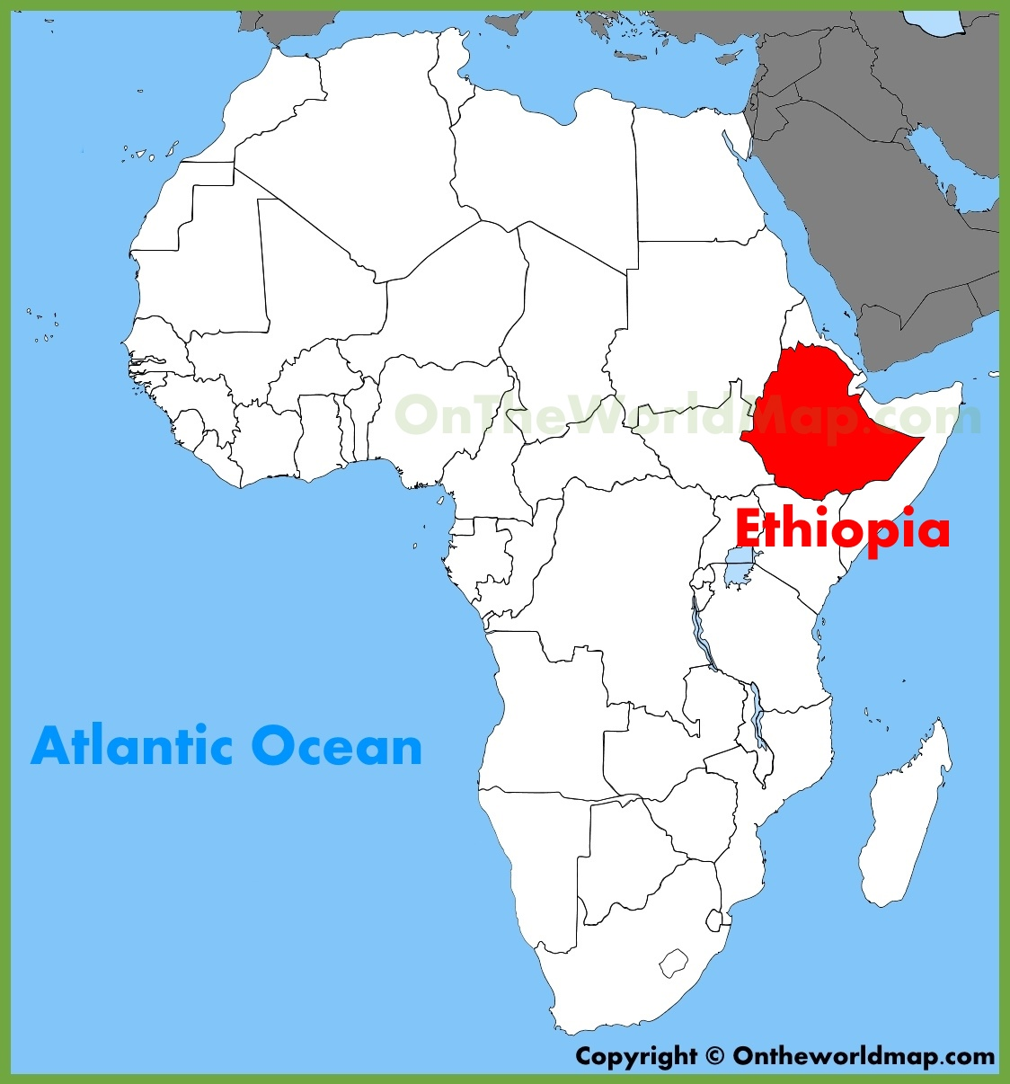 Ethiopia location on the Africa map