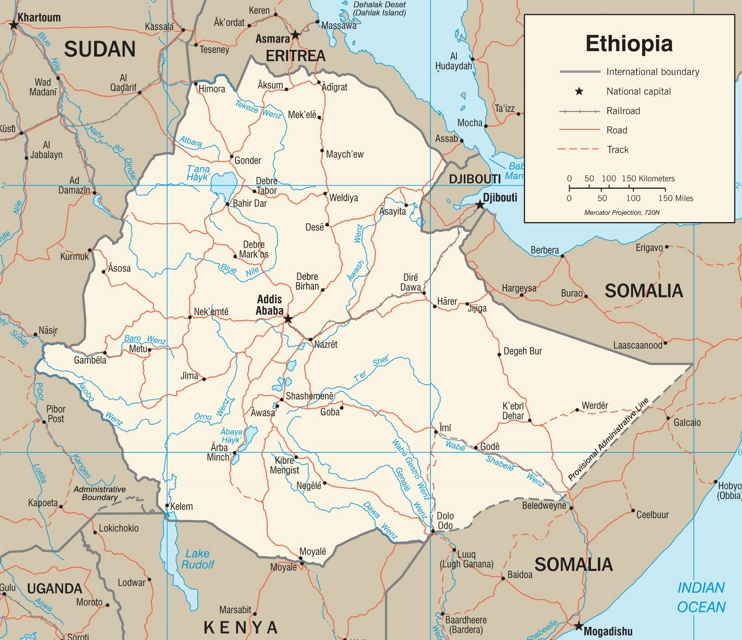 Ethiopia road map