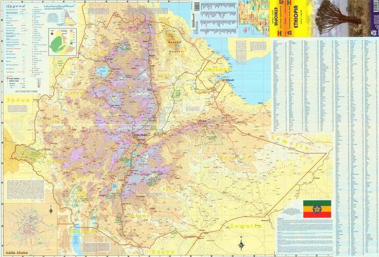 Large detailed map of Ethiopia