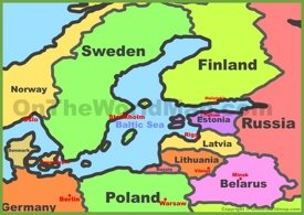 Baltic states map