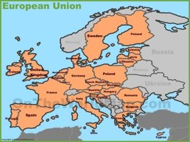 European Union countries map