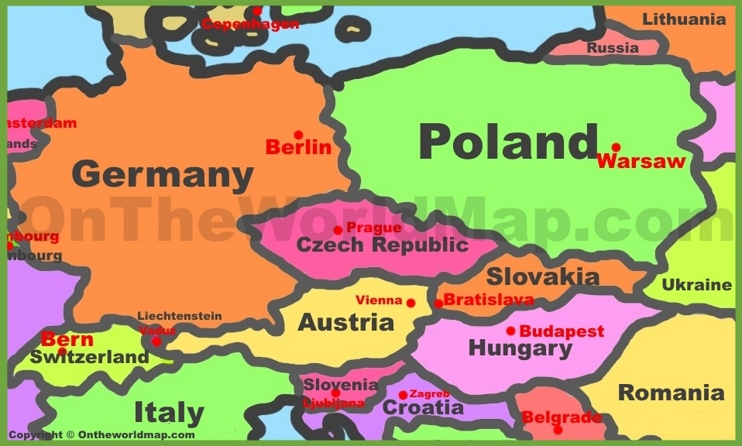 Map Of Central Europe Pictures to Pin on Pinterest PinsDaddy