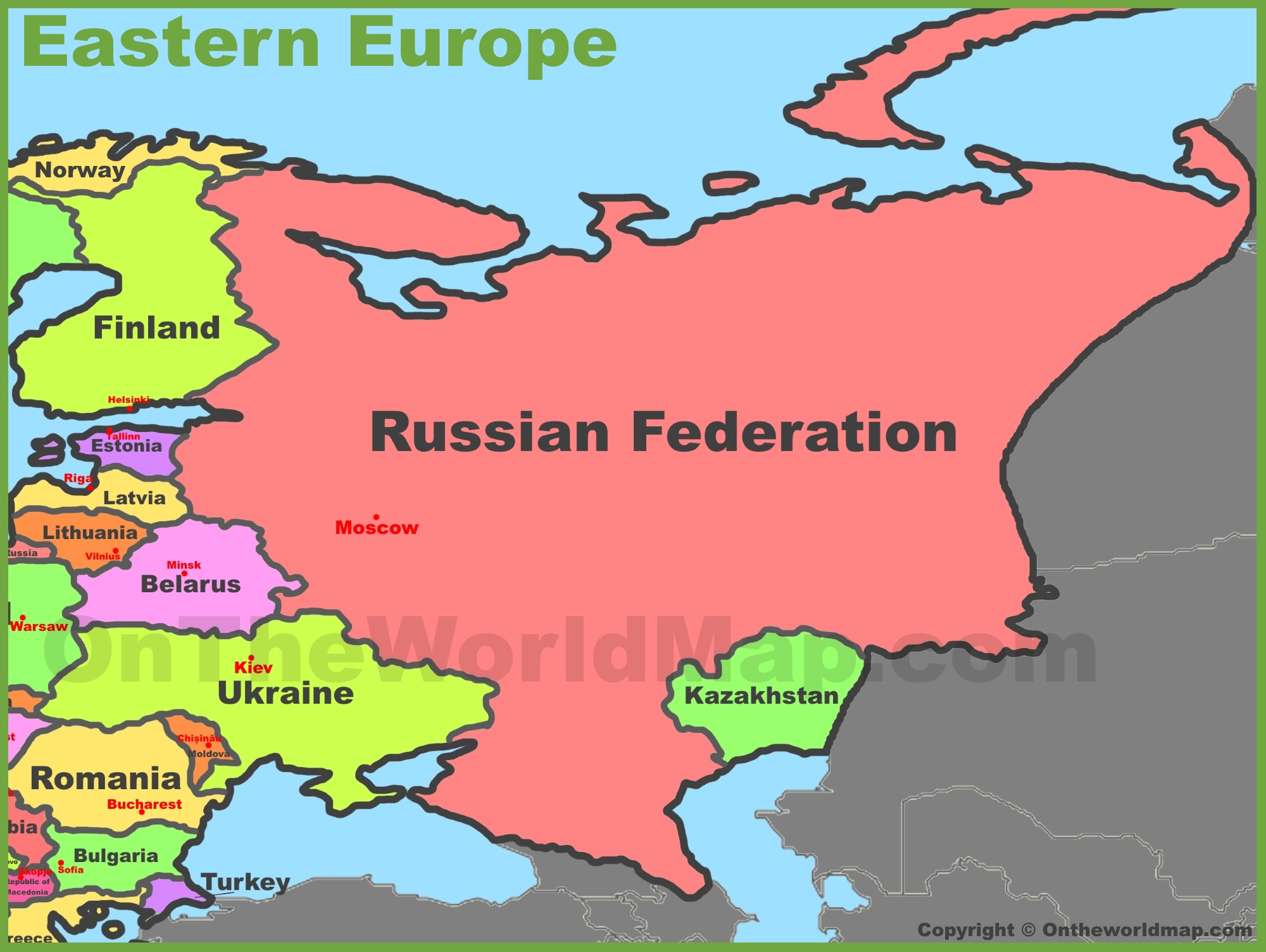 Europe East Map Map of Eastern Europe Europe East Map