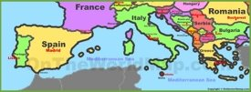 Map of Southern Europe