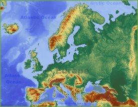 Cartina Fisica Muta.Mappa Dell Europa Mappe D Europa