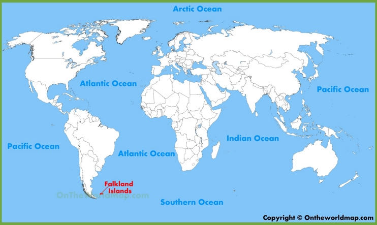 Falkland Islands location on the World Map