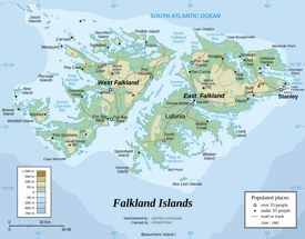 Falkland Islands physical map