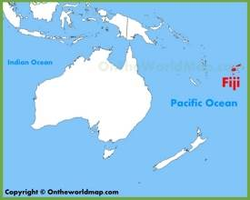 Fiji location on the Oceania map