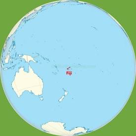Fiji location on the Polynesia and Melanesia map