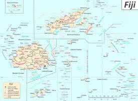 Large detailed map of Fiji