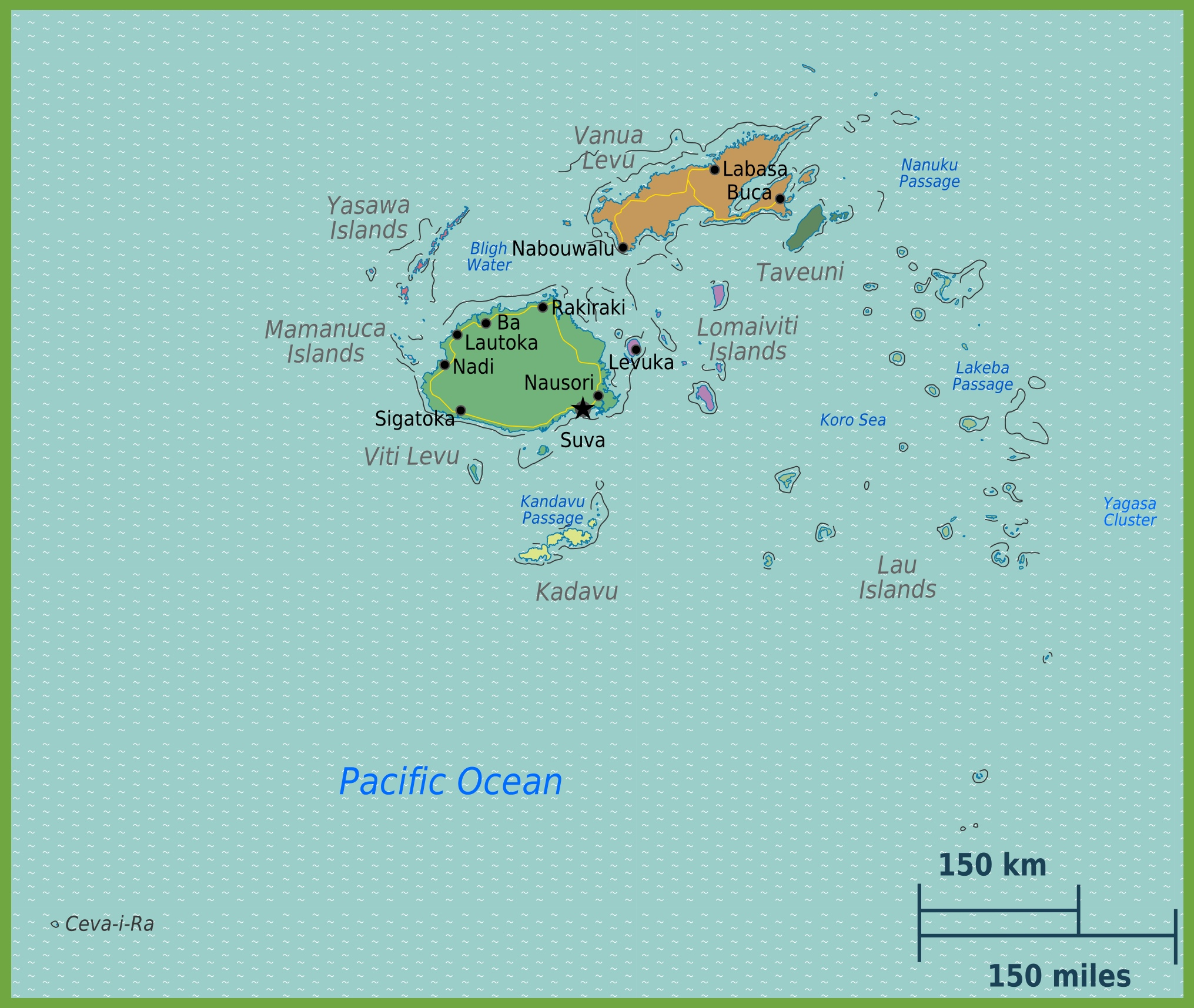 Road map fiji political map with capital suva islands important political map of fiji fiji political map gumiabroncs Gallery
