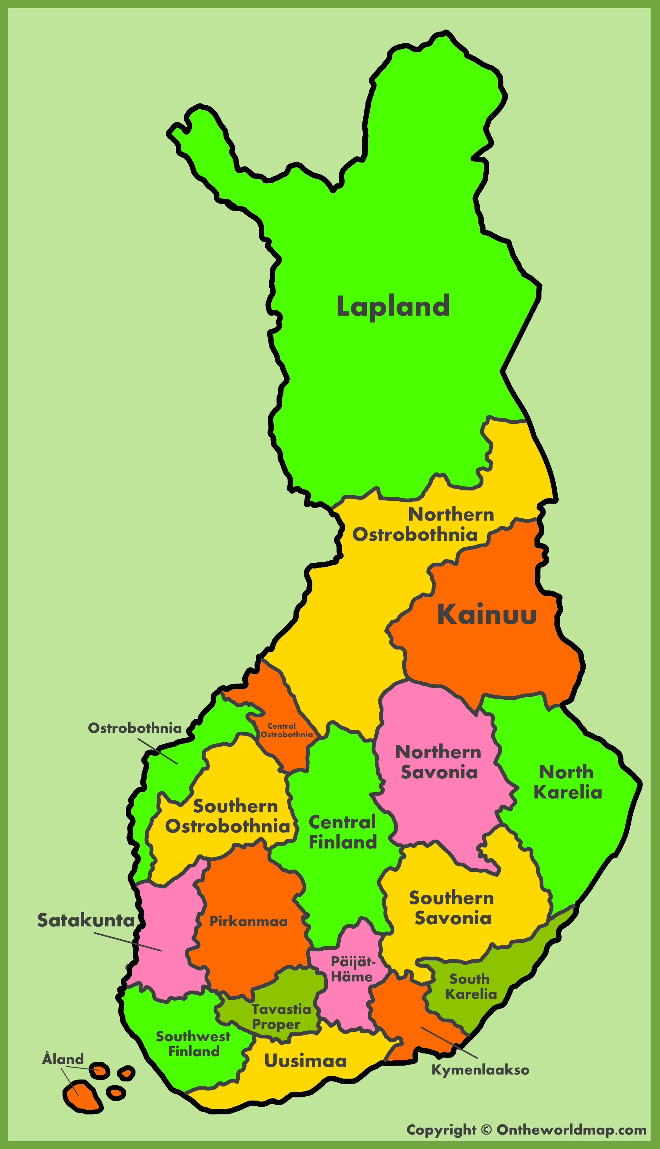 Map Of Finland Administrative map of Finland Map Of Finland
