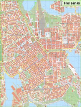 Helsinki city center map