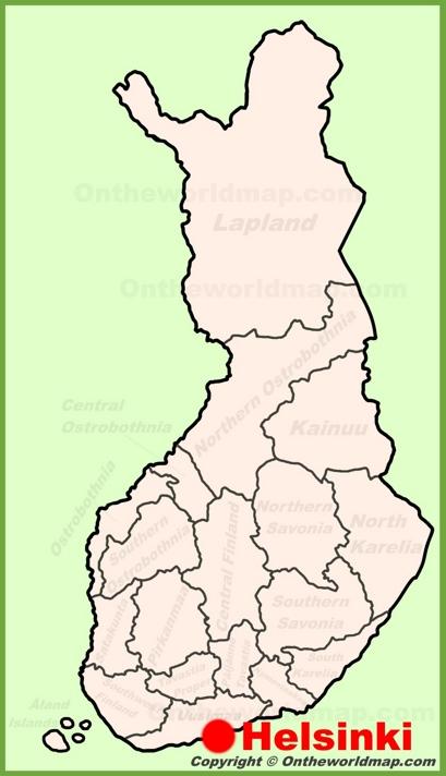 Helsinki Location Map