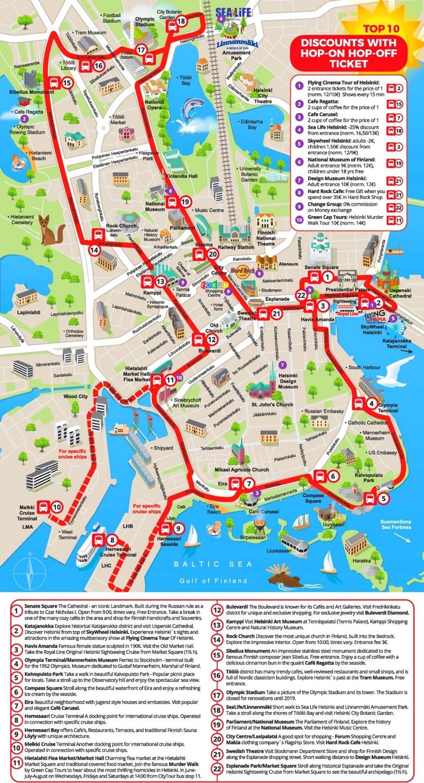 Helsinki sightseeing map