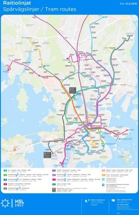 Helsinki tram map