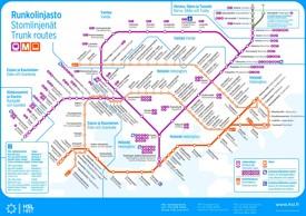 Helsinki transport map