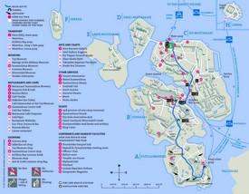 Suomenlinna tourist map