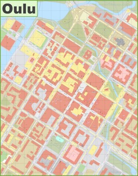 Oulu city center map