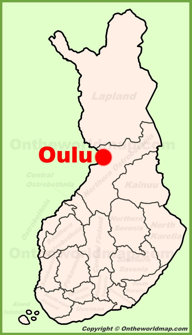 Oulu location on the Finland Map