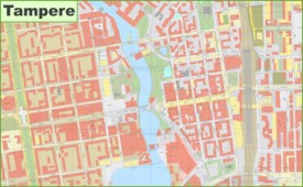 Tampere city center map