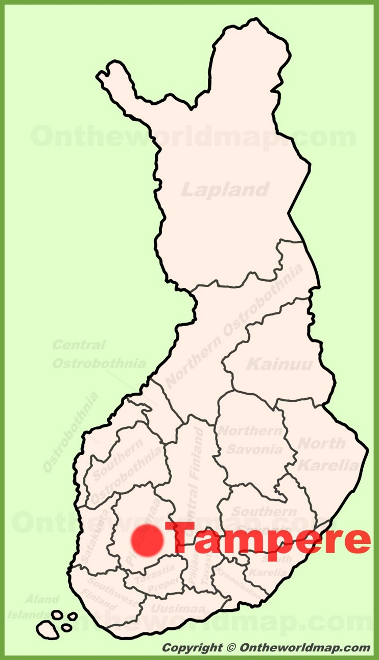 Tampere location on the Finland Map
