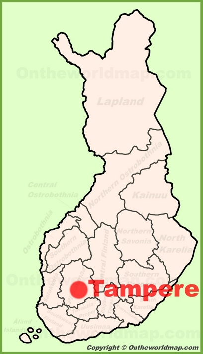 Tampere Location Map